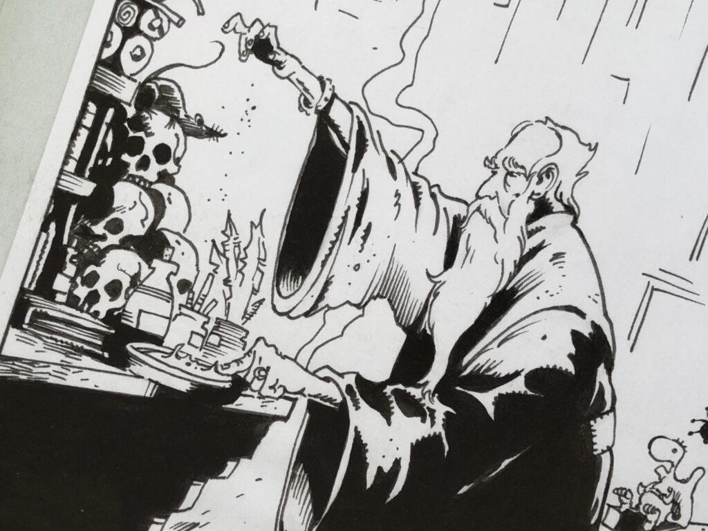 Magiker av Peter Bergting till Drakar och demoner.