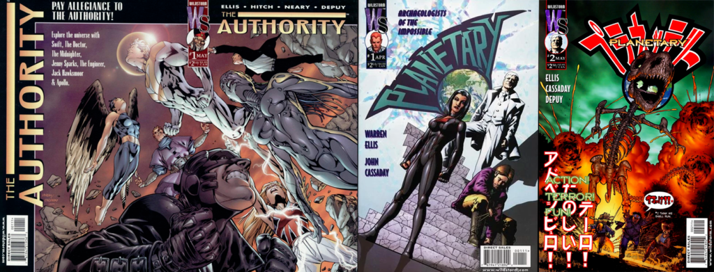 The Authority och Planetary på Wildstorm Comics.