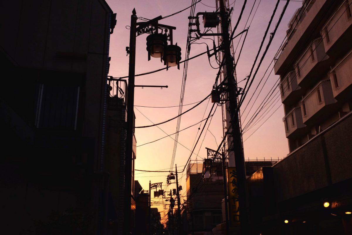 Elledningar i Tokyo 2018. Foto: Pelle Sten