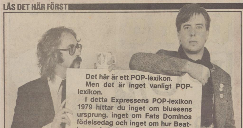 Mats Olsson och Erik Hörnfeldt styrde upp Expressens poplexikon 1979.