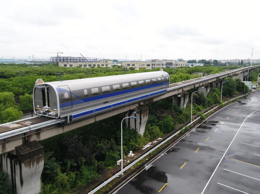Den ensamma tågvagnen som testades. Foto: Tongji University
