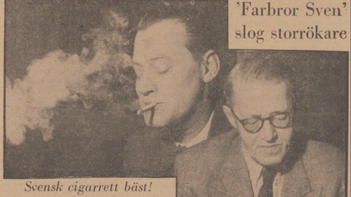 Sven Jerring och Erik Wästberg på Expressens förstasida den 21 januari 1949.