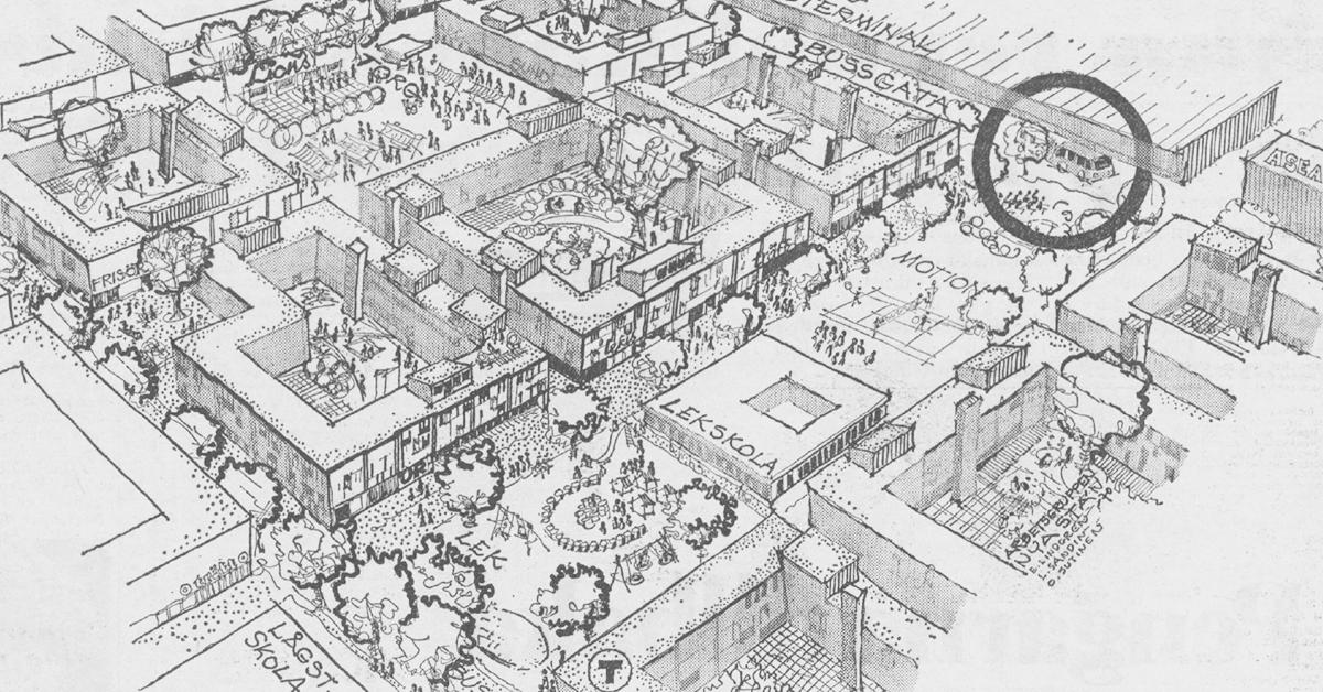 Projektet Nya stan som det presenterades i Expressen den 31 maj 1970.