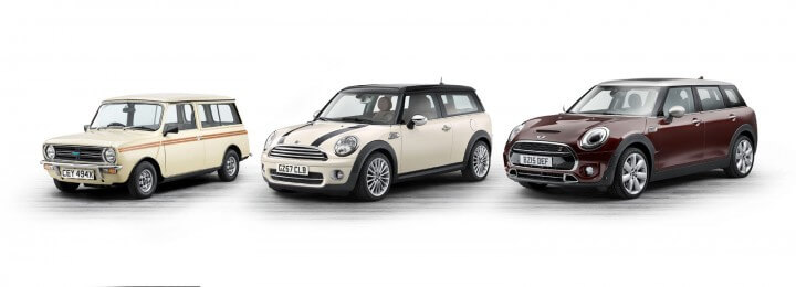 Se hur mycket den klassiska europeiska bilmodellen Mini har växt under åren. Foto: Press