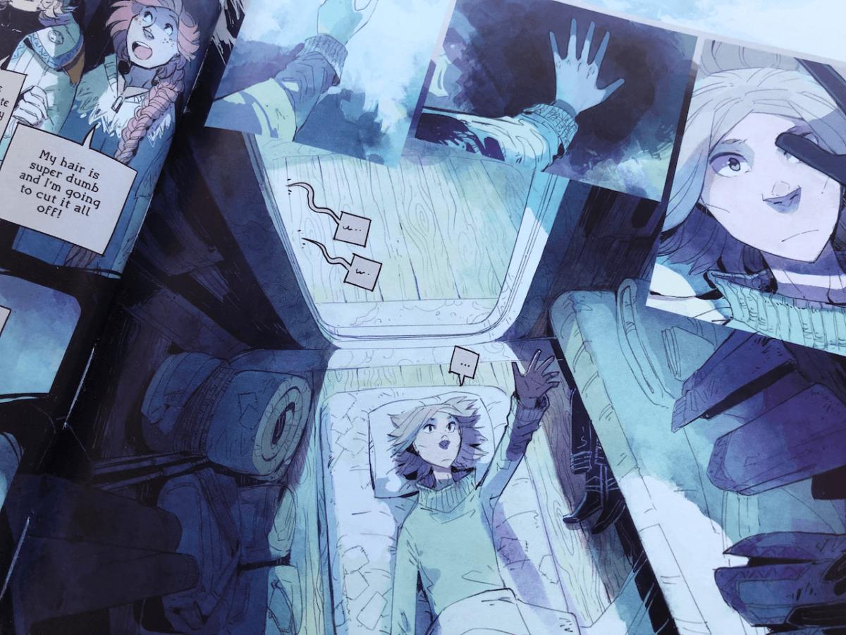 Precis som i manga är det mycket fokus på känslor. Ur Stand Still, Stay Silent, Volym 3 av Minna Sundberg.